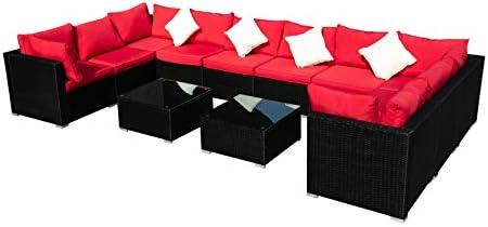 LEISURELIFE Outdoor Patio Sofa Furniture Set