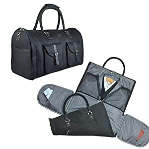 2 in 1 Convertible Travel Garment Bag Carry On Suit Bag