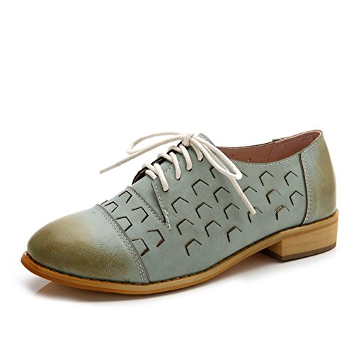 Tjuly Fashion Oxfords Confortable Bas Lacets Talon Womens Chaussures rPxqrw