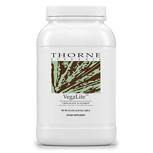 Thorne Research - VegaLite - Vegan-Friendly Performance Protein Powder - Chocolate Flavor - 34.3 oz. by Thorne Research