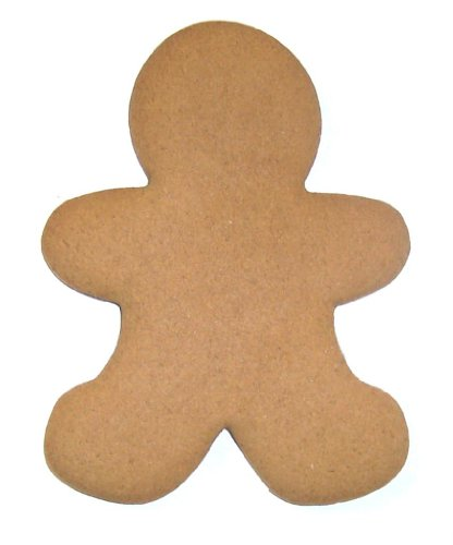 Scott's Cakes Hand-Rolled & Fresh Baked Undecorated Large Christmas Gingerbread Men Gingerbread Cookies