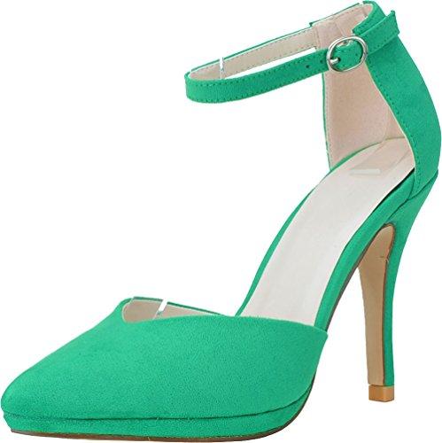 Cheville 36 EU 5 Femme Green Bride Vert CFP RFxwOHCqq