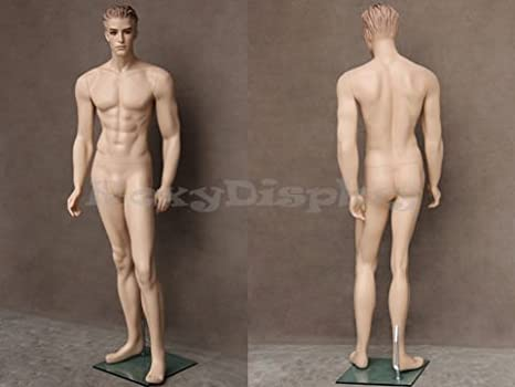 MZ-WEN5 ROXYDISPLAY/™ Realistic Male Mannequin with Molded Hair.