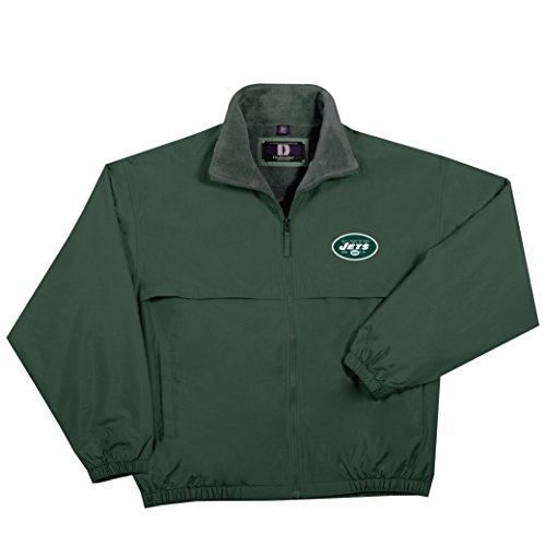 NFL New York Jets  Triumph Fleece Lined Mid Weight Jacket, Large, Forest
