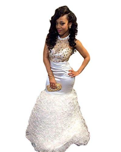 TBGirl Rhinestones Ruffles Mermaid Dresses product image