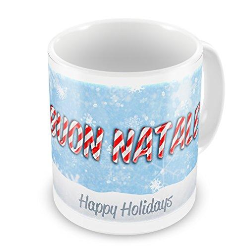 Coffee Mug Merry Christmas in Italian from Italy, Vatican City, San Marino - Neonblond