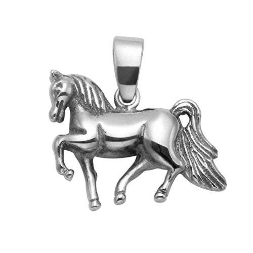 (Stainless Steel Prancing Horse Pendant)
