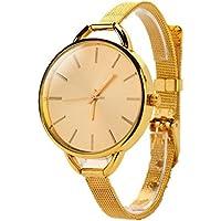 Girls Women Ladies Watch,FUNIC Analog Stainless Quartz Bracelet Wristwatch Watch (Gold)