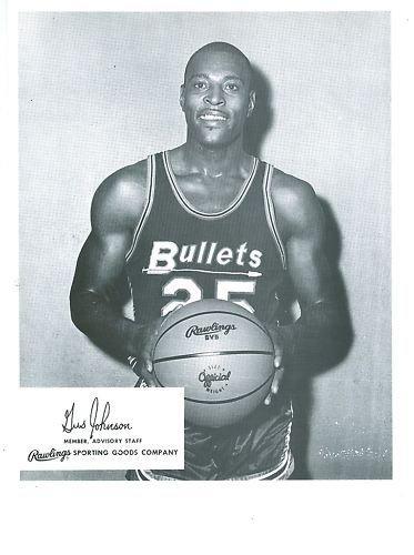 (1962 Gus Johnson Washington Bullets Rawlings 8x10 Card)