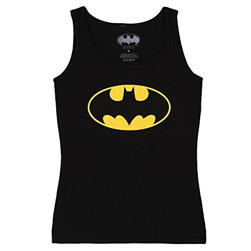 Batman Classic Logo Juniors Tank Top - Black (Large) - Logo Tank Top