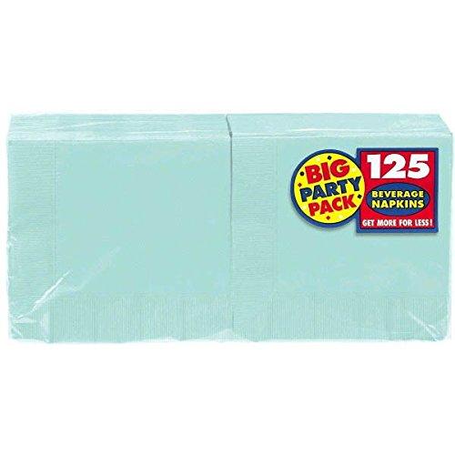 Robin's Egg Blue Beverage Paper Napkins Big Party Pack, 125 Ct. -