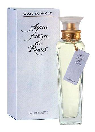 Adolfo Dominguez Agua Fresca de Rosas Eau de Toilette Natural Spray Perfume 60 ml Bottle