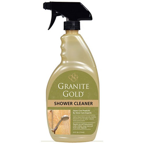 Granite Gold Shower Cleaner stone shower cleaner for marble, travertine, quartz and tile, 24 (Gold Granite)