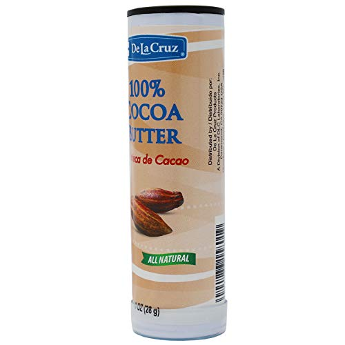 De La Cruz Pure Cocoa Butter Stick, Helps Sooth Dry Skin, Hexane-Free, No Preservatives, Fragrances or Artificial Colors, 4 -Pack of 1 Oz, Sticks