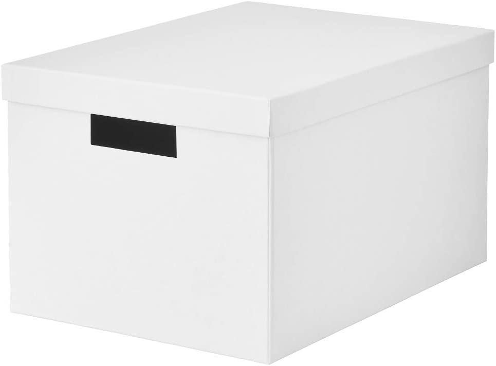 IKEA ASIA TJENA - Caja de almacenaje con Tapa, Color Blanco: Amazon.es: Hogar