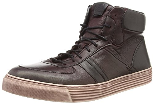 camel active Bowl 70 Damen Hohe Sneakers Rot (bordo/black/grey)