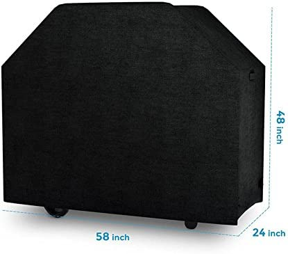 SUREH Gas Grill Cover 58 Inch Heavy Duty Waterproof BBQ Barbecue Grill Cover Durable Charcoal Smoker Cover UV Weather Resistant Rip Resistant Dust