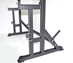Squat Rack W/ Bench Safety Stands H.D. Adjustable Power Weight Racks by Atlas