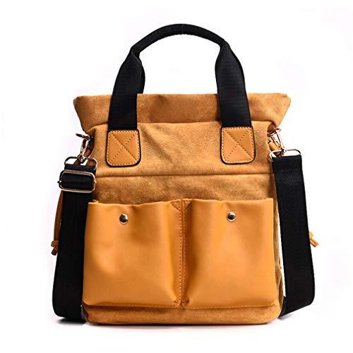 Women Bag Brown Leather Shoulder Pu Handbags Yellow qI4nwIFrx