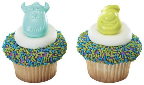 Monsters University Mike & Sulley Cupcake Rings - 12 ct