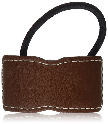 Sewn Stone (Caravan Genuine Leather And Sewn Stitching Decorates This Traditional Ponytail Elastic)
