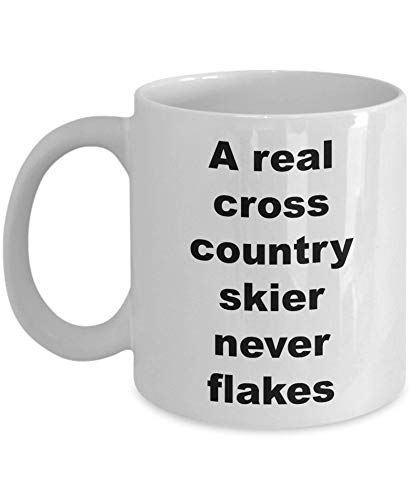 A Real Cross Country Skier Never Flakes Coffee Mug Cute Gift For Cross Country Skier Mugs Skiing Mug Skier Gifts Gifts For Skiing Mugs