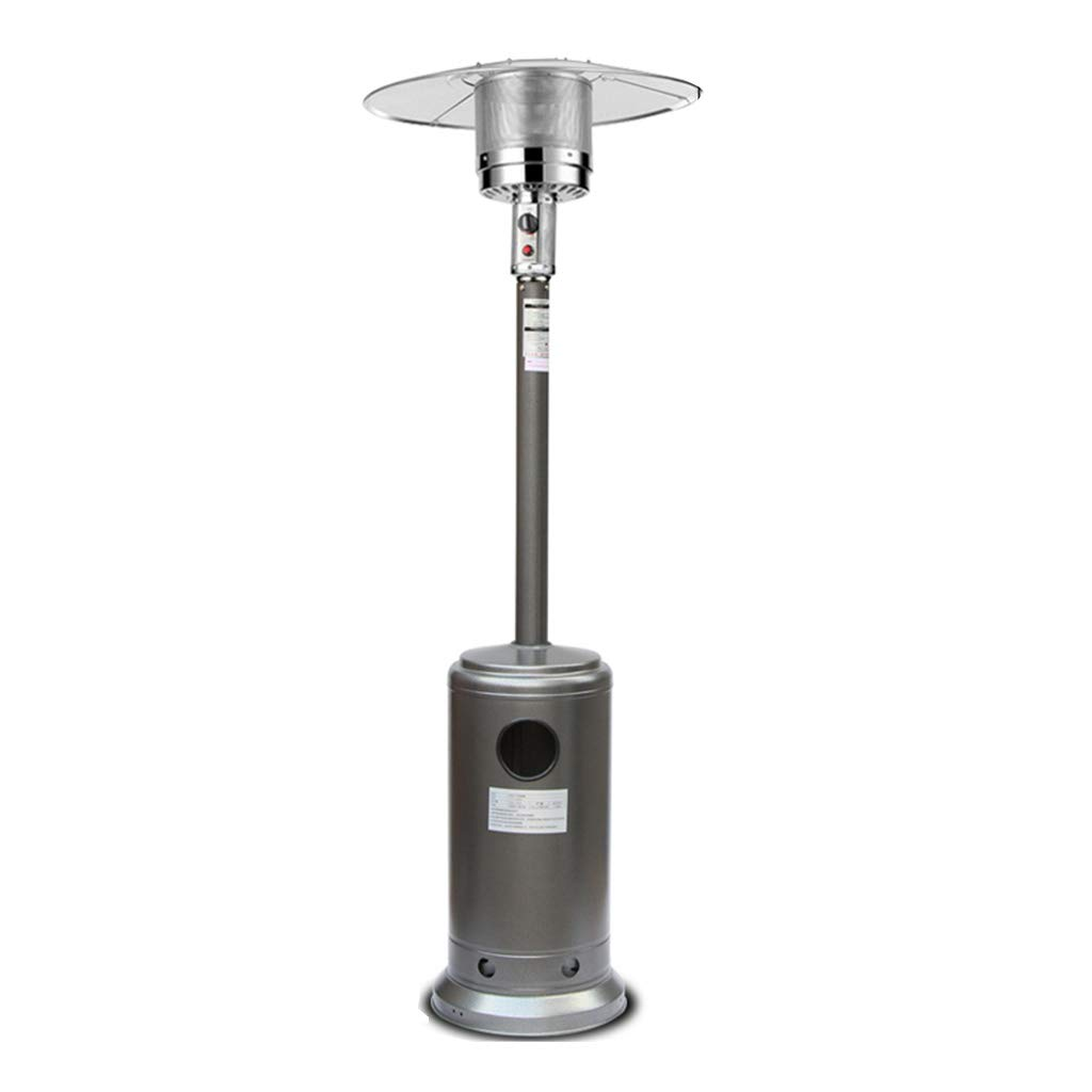 XLOO Commercial Propane Outdoor Heater,Outdoor Round Stand Up Patio Heater Cover,Stainless Steel,Flameout Protection, Lack of Oxygen Protection by XLOO