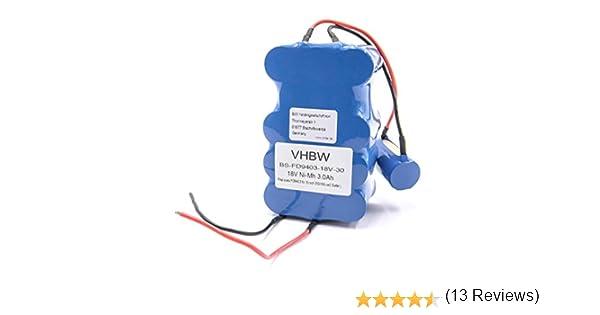 vhbw Batería NiMh 3000mAh (18V) para aspiradora robot autónomo de ...