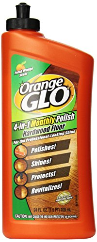 Orange Glo Hardwood Floor 4-in-1 Monthly Polish, 24 Oz (Pack of 2) - Orange Floor Cleaner