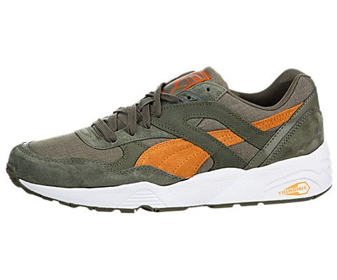 Trinomic R698 Street Mens in Bunrt Olive/Russet Orange by Puma, 13 (Russet Olive)