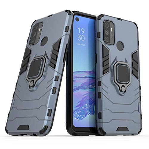 Lantier 360 Degree Rotation Durable Armor Ring Kickstand Holder and Full Protective Shockproof Case for Oppo A53/A32…