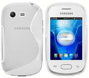 Mumbi - Carcasa de silicona y TPU para Samsung Galaxy Star S5280, color blanco translúcido