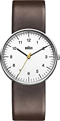 Braun Men's BN0021WHBRG Classic Analog Display Japanese Quartz Brown Watch