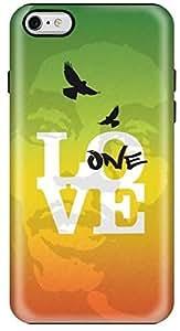 Stylizedd Apple iPhone 6Plus Premium Dual Layer Tough Case Cover Gloss Finish - One Love