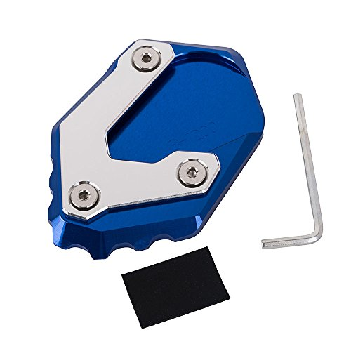 New Motorcycle Accessories motorbike Side Stand Enlarger Kickstand Extension Plate for BMW R 1200 GS LC 2013-2018 (Blue)