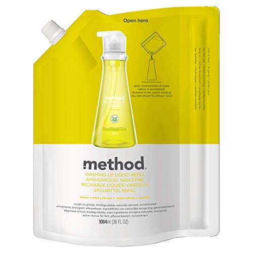 Method Laundry Detergent Refill for Pump Bottles, Free + Clear, 34 Ounce, 85 Loads