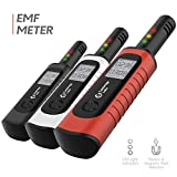 Cambridge Labs Rechargeable EMF Meter - Radiation Detector, Electromagnetic Field Tester, Smart Counter, Great Reader for The Home, Office Or Ghost Hunting, Handheld Digital Sensor (Red)