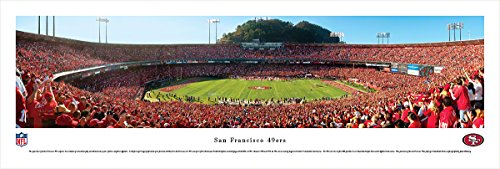 San Francisco 49ers - 50 Yard Line in Candlestick Park - Panoramic Print