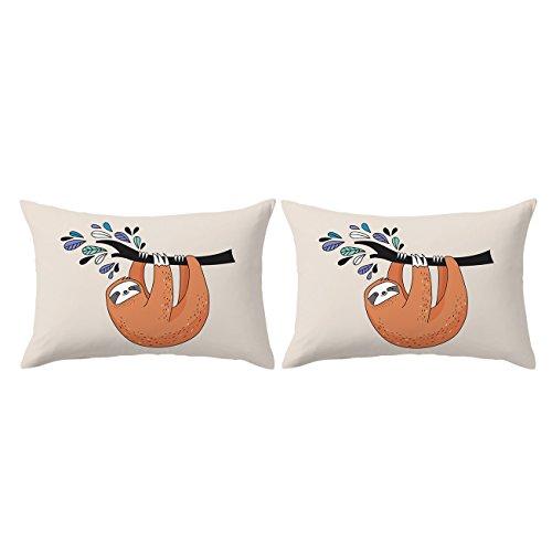 ARIGHTEX Sloth Pillowcase Baby Sloths on Tree Pillow
