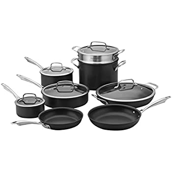 Cuisinart Dishwasher Safe Hard-Anodized 13-Piece Cookware Set, Stainless Steel
