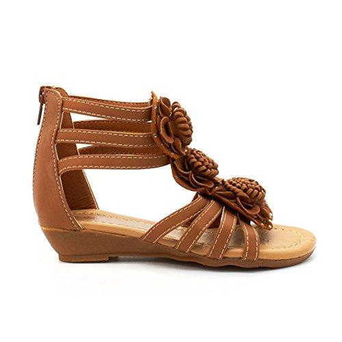 London Footwear - Sandalias romanas chica marrón