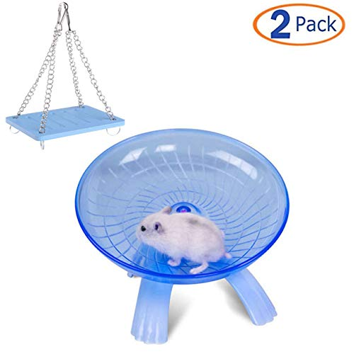 Tfwadmx Pet Swing Toys Hammock, Hamster Exercise Wheel for Syrian Hamster Rat Gerbil Guinea Pig Chipmunk Mouse Parakeet Small Animals (Best Size Wheel For Syrian Hamster)