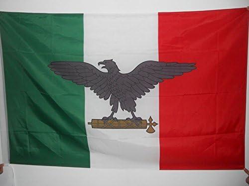 AZ FLAG Bandera de la REPÚBLICA Social Italiana 90x60cm para Palo - Bandera Italia FASCISTA - RSI 60 x 90 cm: Amazon.es: Hogar