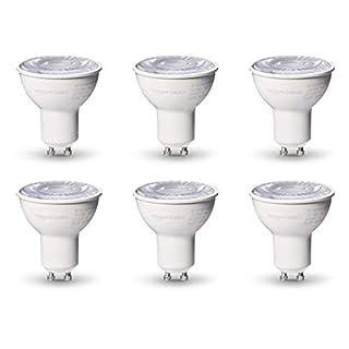 AmazonBasics 50W Equivalent, 3000K White, Dimmable, 10,000 Hour Lifetime, MR16 (GU 5.3 Base) LED Light Bulb   6-Pack