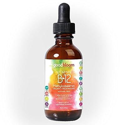Vitamin B12 Sublingual Liquid Drops, Vegan, Methylcobalamin, Alcohol Free, 2500 mcg per serving, Fast Absorbing compared to Pills, Capsules, Soft Gels & Patches, Adjustable Servings