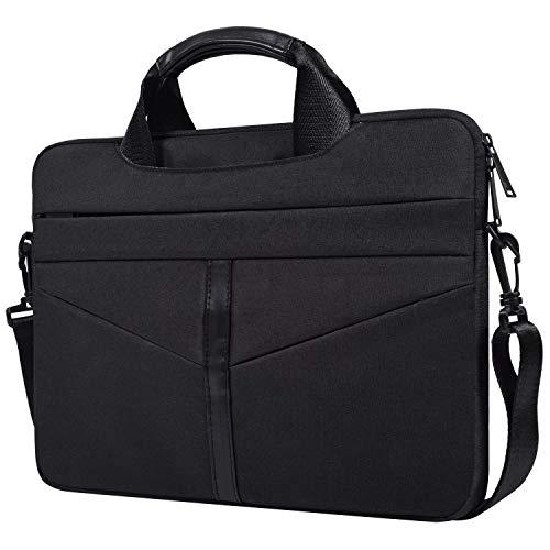 CaseBuy 13 Inch Laptop Shoulder Bag, Water Resistant Laptop Sleeve Case Compatible MacBook Pro 13 Inch A1989 A1706 A1708, XPS 13, MateBook X Pro 13.9