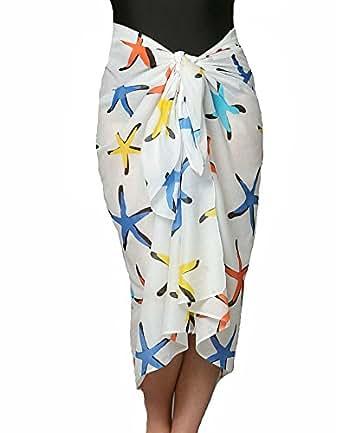 Swimsuit Sarong in Hawaiian Starfish Print 100% Soft