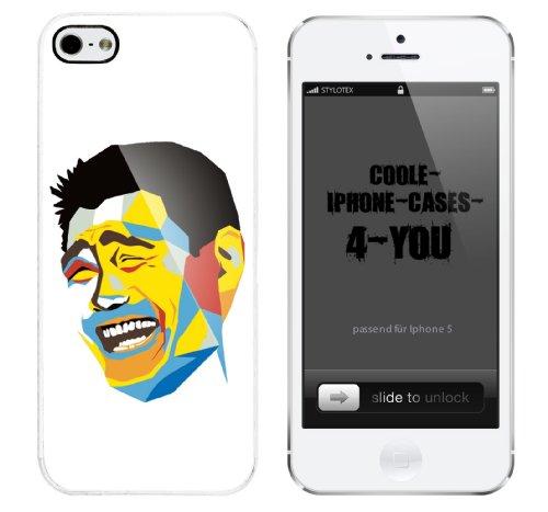 Iphone 5 Case Retro Guy Rahmen weiss