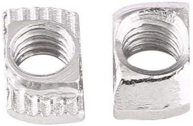 150 Piezas Tuerca T de Acero al Carbono Tuercas en T de Acero al Carbono Niquelado en la Superficie de los Perfiles de Aluminio Tuerca en T de Acero al Carbono Est/ándar Europea Est/ándar