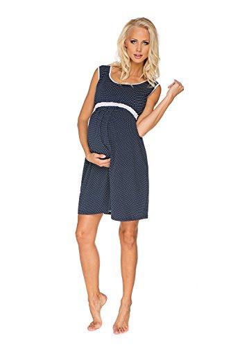My Tummy Maternité chemise de nuit Suzie bleu marine